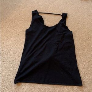 Fabletics open twisted back detail activewear top
